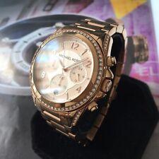 Ladies Michael Kors Designer Watch BLAIR MK5263 Rose Gold Chronograph Genuine