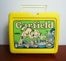 Garfield Thermos Lunch Box Green Label 1978 (Lunch Box Only)