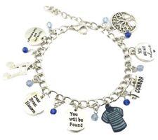 Broadway's Dear Evan Hansen Musical  8 Themed Charms Silvertone Charm Bracelet