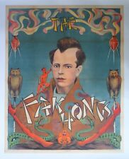 Original Vintage Fak Hong Poster Mounted on Linen