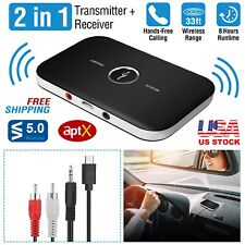 Wireless V4.1 Transmitter Receiver A2DP Audio RCA 3.5mm Aux USB Adapter Hub