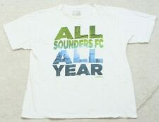 Seattle Sounders FC White Cotton Adidas T-Shirt Tee Top Extra Large XL Man's