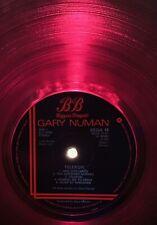 TRANSLUCENT RED VINYL TELEKON UK LP. A3/B3. Gary Numan. Spin Cleaned.