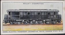 No.38 DIESEL ELEC ROYAL SIAMESE Railway Engines (Adhesive) W.D.& H.D. Wills 1936
