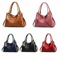 Women's Vintage PU Leather Handbag Crossbody Bag Tote Messenger Shoulder Purse
