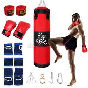 Boxsack Boxhandschuhen Set Erwachsene Sandsack MMA Punching Bag + Handschuhe