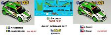 DECAL  1/43 -  SKODA FABIA R5  -  Tidemand / Kopecky   - Rally GERMANIA  2017