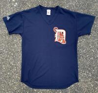 Vintage Detroit Tigers 80s Pullover Baseball Jersey Shirt Majestic Size L Large
