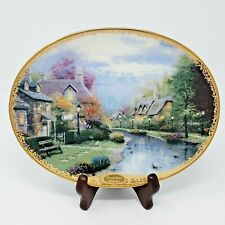 Lamplight Brooke 1st Issue Thomas Kinkade's Lamplight Village Collector Plate