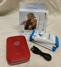 HEWLETT PACKARD SPROCKET 100 PORTABLE PHOTO PRINTER W/ 90 SHEETS- PRE-OWNED