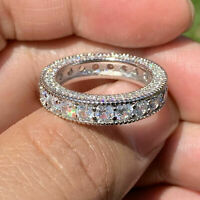Certified 2.00 Ct Classic Diamond Engagement Band Ring in 14k White Gold Over