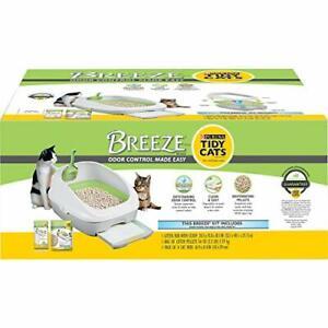 Purina Tidy Cats Litter Box System BREEZE System Starter Kit Litter Box Litte...