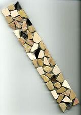 Fliese Bordüre Mosaik Marmor Glas Bruchstein 5x30x0,8cm Dusche Pool Sauna, Bad