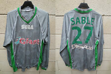 VINTAGE Maillot SAINT-ETIENNE 2000 ASICS football shirt SABLE n°27 gris away XL