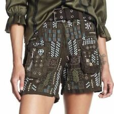 NWT Johnny Was DRAPER Embroidered SHORTS with BELT 10 True to Size RARE AdOrAbLe