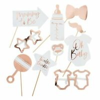 Rose Gold Twinkle Twinkle Star Baby Shower Party Photo Booth Props Decoration