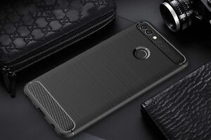 Case Nokia 3 5 6 8 Huawei Y6 10 Carbon Fibre Rugged Shockproof Slim Armour Cover