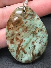 """Geode Agate Turquoise Rock Druzy Crystal Tibetan Silver 18"""" Necklace D994"""