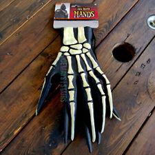 GRIM REAPER COSTUME GLOVES creepy Halloween skeleton hands long fingers slender