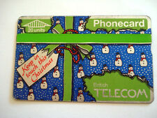 PHONECARD TELECARTE BRITISH TELECOM CHRISTMAS BONHOMME DE NEIGE NOEL