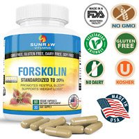 Forskolin Root Extract 20% Standardized  Potent Weight Loss  Fat Burning