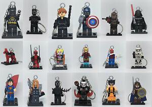 *Lego Keyring Keychain Marvel DC Avengers Comic Superhero Anime Toy Story