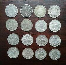Netherlands 1897 - 1944 Silver 10 cents ( 16 coins )