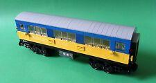 Lego Eisenbahn - Personenwagen, Wagon - gelb / blau mit 9V Achsen