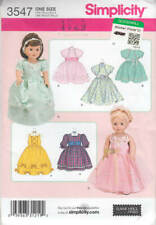 "Sewing Pattern Simplicity 3547 18"" Doll Clothes Gown Formal Dress Bolero"