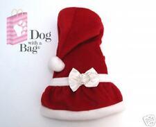 Mrs Santa Claus Christmas Dress Yorkie Chihuahua Dog Clothes Customes Large