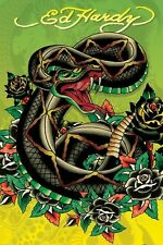 ED HARDY ~ SNAKE TATTOO 24x36 ART POSTER NEW/ROLLED!
