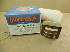 Thordarson Mini-Iso-Mite Transformer 6V MIM 538 6VMIM538 115/230VAC 120VAC New