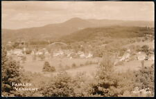 FAIRLEE VT VERMONT Vintage Aerial Town View Bridge RPPC Postcard Old Real Photo