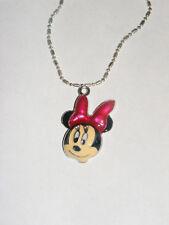 Minnie Mouse Puff  3D Head charm pendant  & Necklace