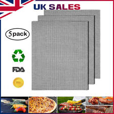 5x MINTIML GRILL MAT BBQ Grill Mesh Mat Non-Stick Cooking Sheet Liner UK