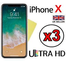 3x Ultra HD Chiaro LCD COVER Protezione Schermo Pellicola Guard Per Apple iPhone X