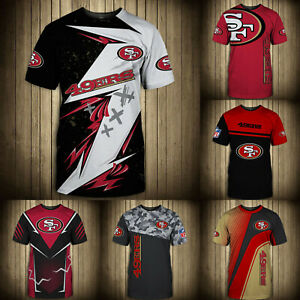 San Francisco 49ers Mens T-shirt Summer Casual Short Sleeve Tee Top Shirts S-5XL