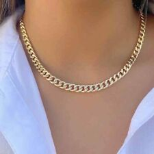 925 Sterling Silver Women's Men's Hip Hop Miami Cuban Link Chain Necklace 22Inch