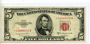 FIVE DOLLAR UNITED STATES NOTE SERIES 1963 A # 8032