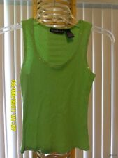 DEREK HEART GIRLS GREEN TANK WITH CRYSTALS SIZE SMALL 100% Cotton