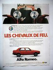 PUBLICITE-ADVERTISING :  ALFA ROMEO Giulietta 1,6  1978 RL Super Sport 1925,Voit