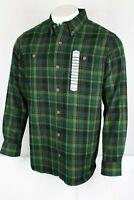 Duluth Men's Free Swingin' Trim Fit Flannel Shirt Large Pine Grove Plaid 64507