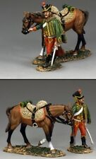 KING & COUNTRY AGE OF NAPOLEON NA301 FRENCH HUSSAR WALKING WITH HORSE MIB