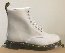 DR. MARTENS 1460 BONE WASHED CANVAS  BOOTS SIZE UK 10