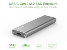 USB-C M.2 NGFF SATA Enclosure,USB3.1 GEN 2 M.2 NGFF SSD Enclosure Support B Key