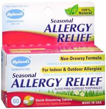 Hylands Seasonal Allergy Relief Tablets 60 Tablets (Pack of 2)