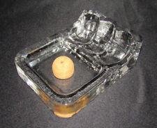 3er Pfeiffenständer mit Ascher, Georgshütte, Kristallglas, 2,1kg, 60er/70er