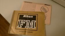 Nikon FM Original Instruction Booklet