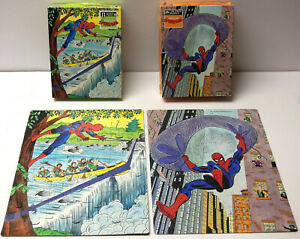 Vintage 1988 Marvel The Amazing Spider-Man JIGSAW PUZZLE LOT COMPLETE Golden