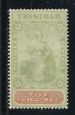 TRINIDAD  1896-1906  5s green & brown  SG122  MMNG